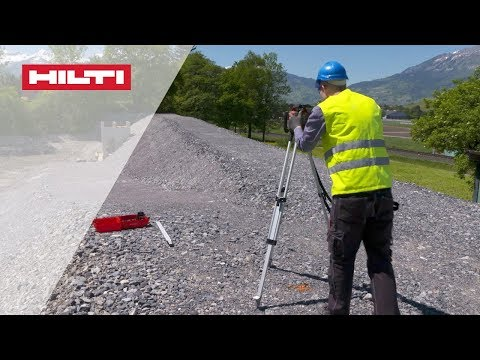 HOW TO check existing slope using the auto alignment function on the PR 30-HVS rotating laser level