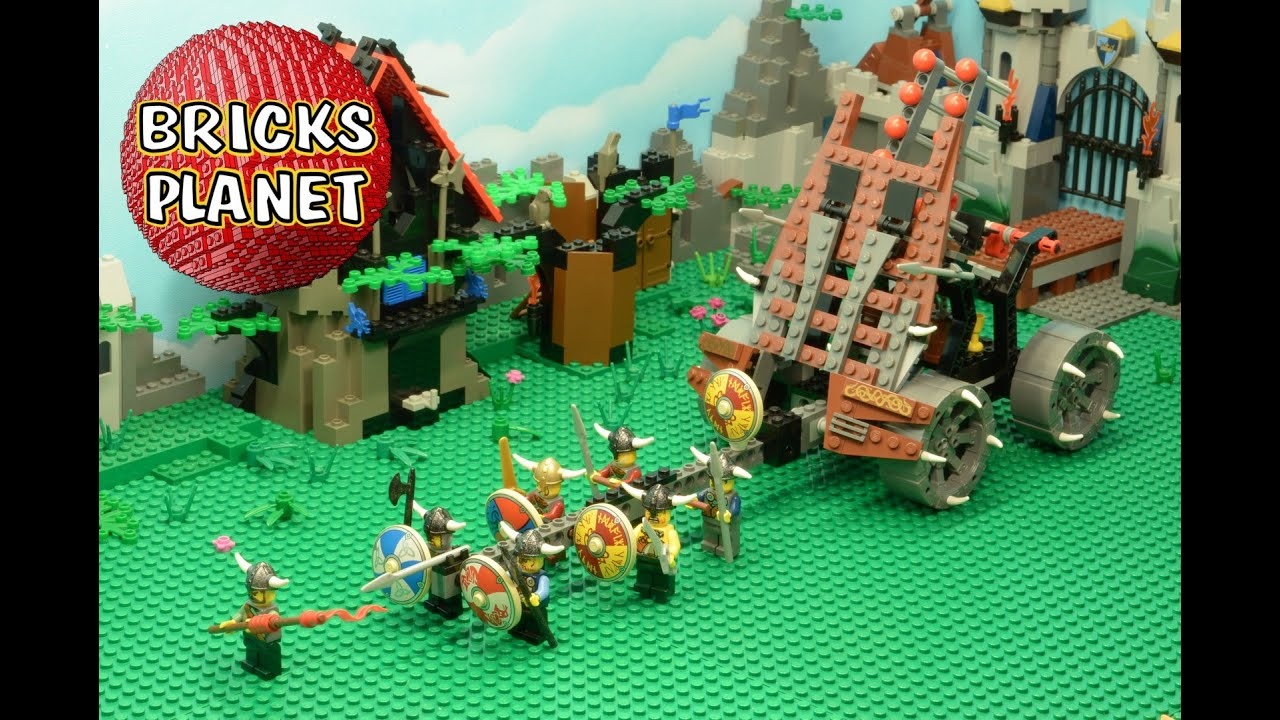 Army Of Vikings With Heavy Artillery 7020 Lego Castle Stop Motion