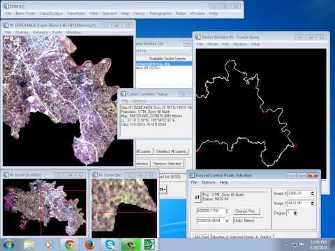 ENVI 4.3 - Map - Registration (image-to-map & image-to-image)