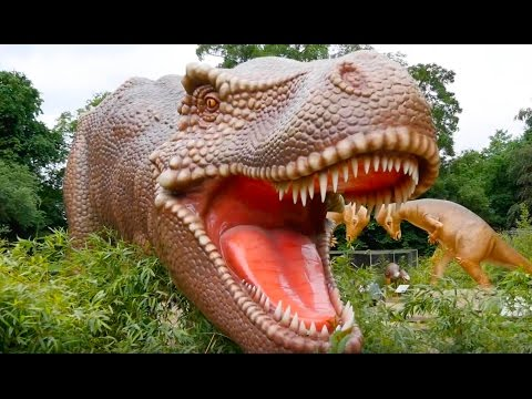 Scary Dinosaur Island / Family Fun Play Area / Kids Song