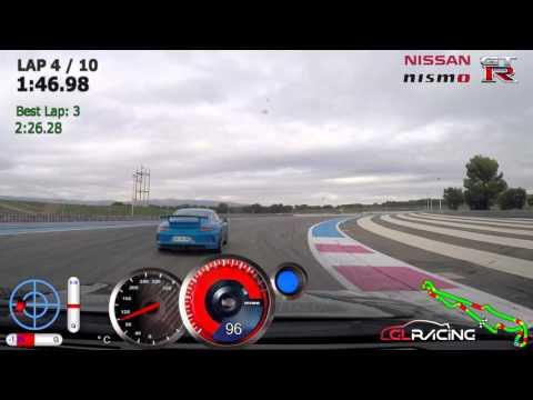 Nissan GT-R - Le Castellet - Chasing Ferrari 458 Speciale / BRS