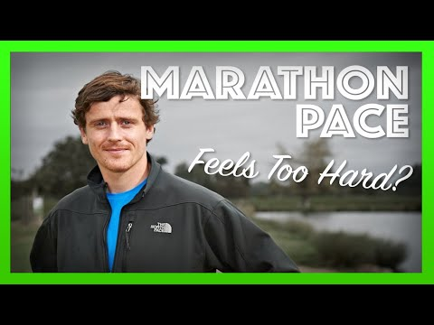 Running at Your Target Marathon Pace Feels Too Hard?