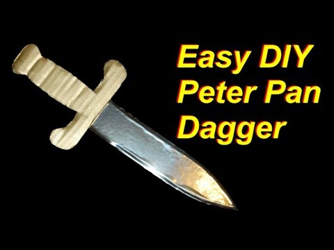 image about Peter Pan Hat Pattern Printable named Do it yourself Peter Pan Dagger - Inexpensive and Basic
