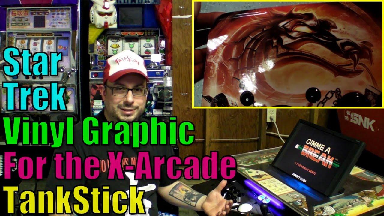 Repeat Star Trek Vinyl Graphic Overlay X-Arcade TankStick - Retro GP