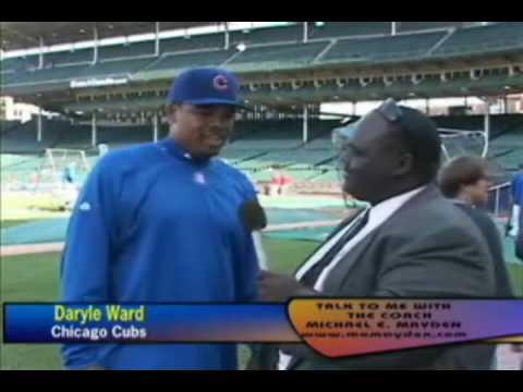 DARRYL WARD CHICAGO CUBS & COACH MAYDEN