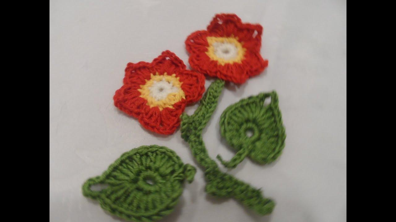 Diyhäkel Idee Einfache Blume Häkeln Blatt Häkeln Part 3 How To