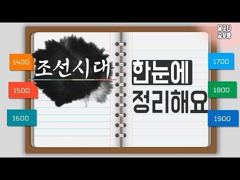 한국사 l  조선시대 500년 l  흐름 한눈에 정리해요♡ (조선왕조, 왕순서) 1탄