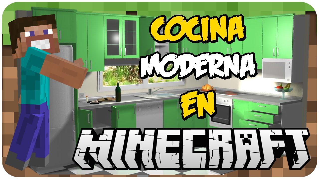 COMO HACER UNA COCINA MODERNA EN MINECRAFT |SIN MODS| - YouTube