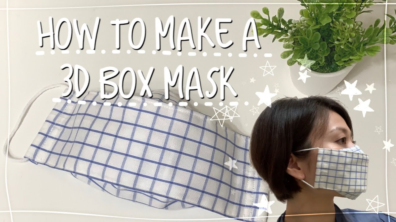 How to make a 3D BOX MASK  Vol.030         ボックスマスクの作り方(ノーズワイヤー&フィルターポケット付き)