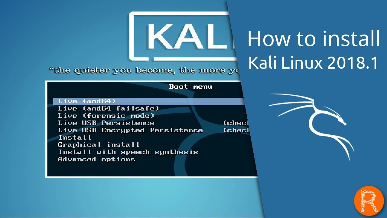 How to install kali live on a usb drive (with persistence.