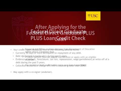 Applying for Grad PLUS Loans at USC