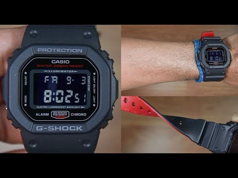 Casio G Shock Dw 5600hr 1 Dual Tone Resin Band Unboxing Youtube