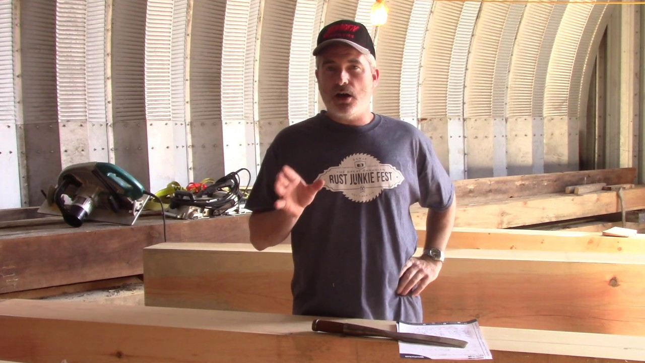 Building a Timberframed Woodworking Shop Part 7a - Layout