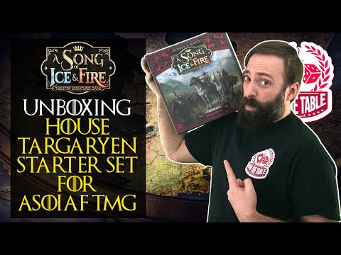 Unboxing the House Targaryen Starter Set for A Song of Ice and Fire the Miniatures Game