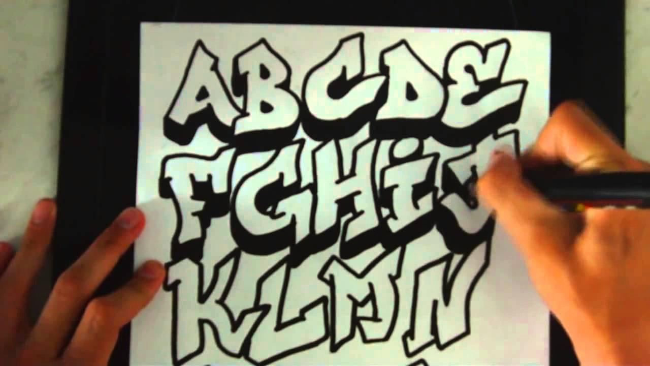 Como Dibujar Letras 3d De Grafiti De A A Z Youtube