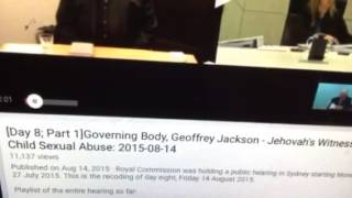 WatchTower leader Of JWS lying under oath on the Bible//DID HE ????