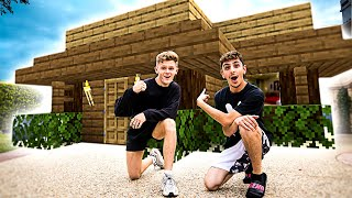 Download We Spent 24 Hours in a REAL LIFE Minecraft House! Mp3 and Videos