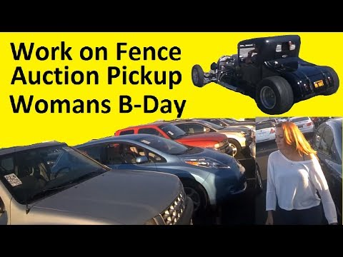 Auction Cars ~ Work Vlog ~ Behind the Scenes ~ Dad & Girlfriend
