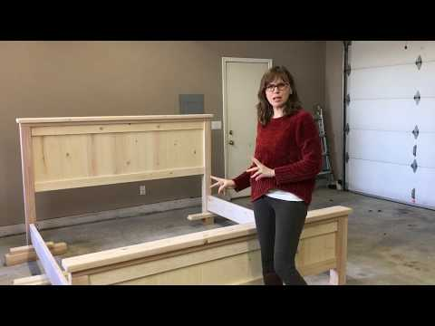 DIY King Size Farmhouse Bed