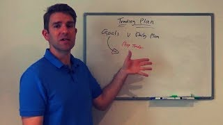 How to Develop a Trading Plan - Goals: Part 1 👍