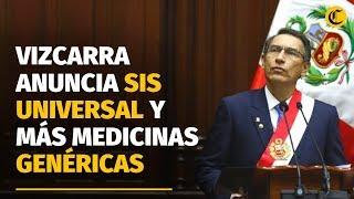 Martín Vizcarra anunció SIS universal y venta obligatoria de medicamentos genéricos