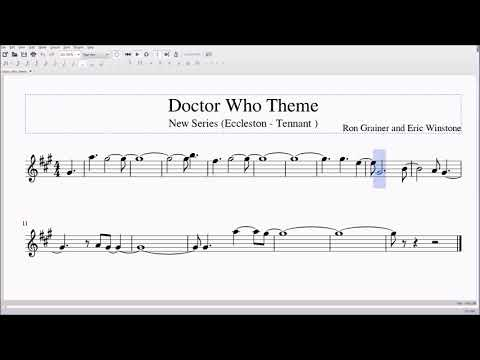 Doctor Who Theme for Alto/Bari Sax Sheet Music