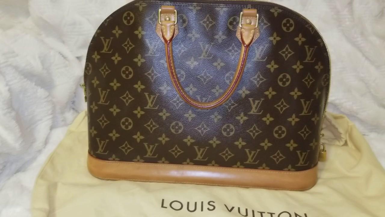 Louis Vuitton Alma GM size Comparison to a Neverful MM - YouTube 80cd392e7d508
