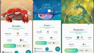 Rayquaza vs Groudon vs Kyogre IN POKEMON GO!!!