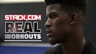 Real Workouts: NBA Star Jimmy Butler, Pt. 1 [Weight Room Work]