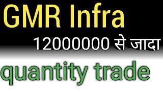 gmr infra  12000000 से जादा quantity trade !! gmr infra latest news !!