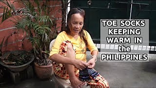Filipino Toe Socks Keeping Feet And Toes Warm In Philippines
