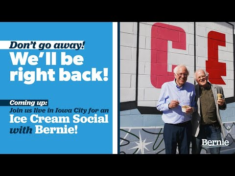Ice Cream Social In Iowa City With Bernie Sanders