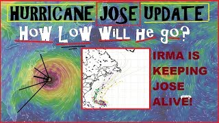 Hurricane JOSE UPDATE JOSE Survives due to IRMA! How Low will Jose go?