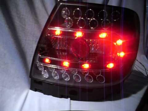 led r ckleuchten audi a4 b5 schwarz by sw tuning youtube. Black Bedroom Furniture Sets. Home Design Ideas
