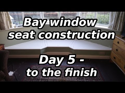 Bay window seat construction - day 5 to the finish