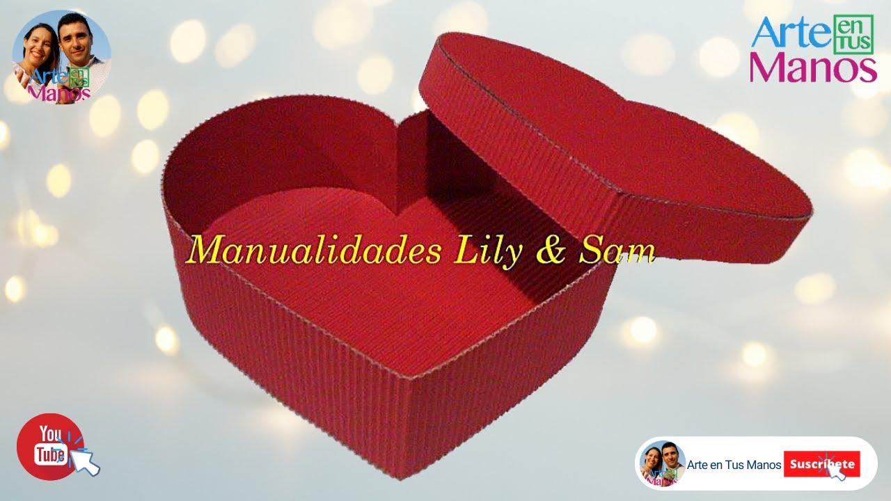 Caja Corazón en cartón corrugado - Heart corrugated cardboard (box ...
