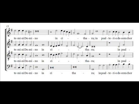 Lodovico Grossi da Viadana - Exultate justi in Domino (score)