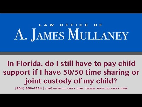 In Florida, do I pay child support if I have 50 50 time sharing or joint custody with my child