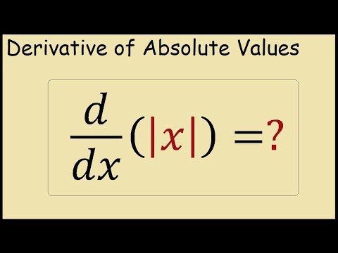 How to Differentiate the Absolute Value of x