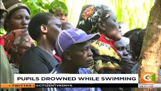 Pupils drown while swimming