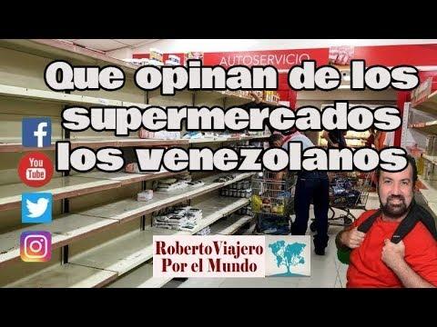 INCREÍBLE Que opinan los venezolanos en Caracas acerca de sus supermercados vacíos
