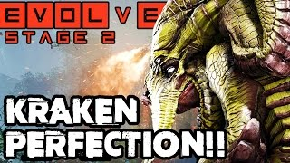 PERFECT MONSTER PLAY!! BOG KRAKEN STAGE TWO!! Evolve Gameplay Walkthrough (PC 1080p 60fps)