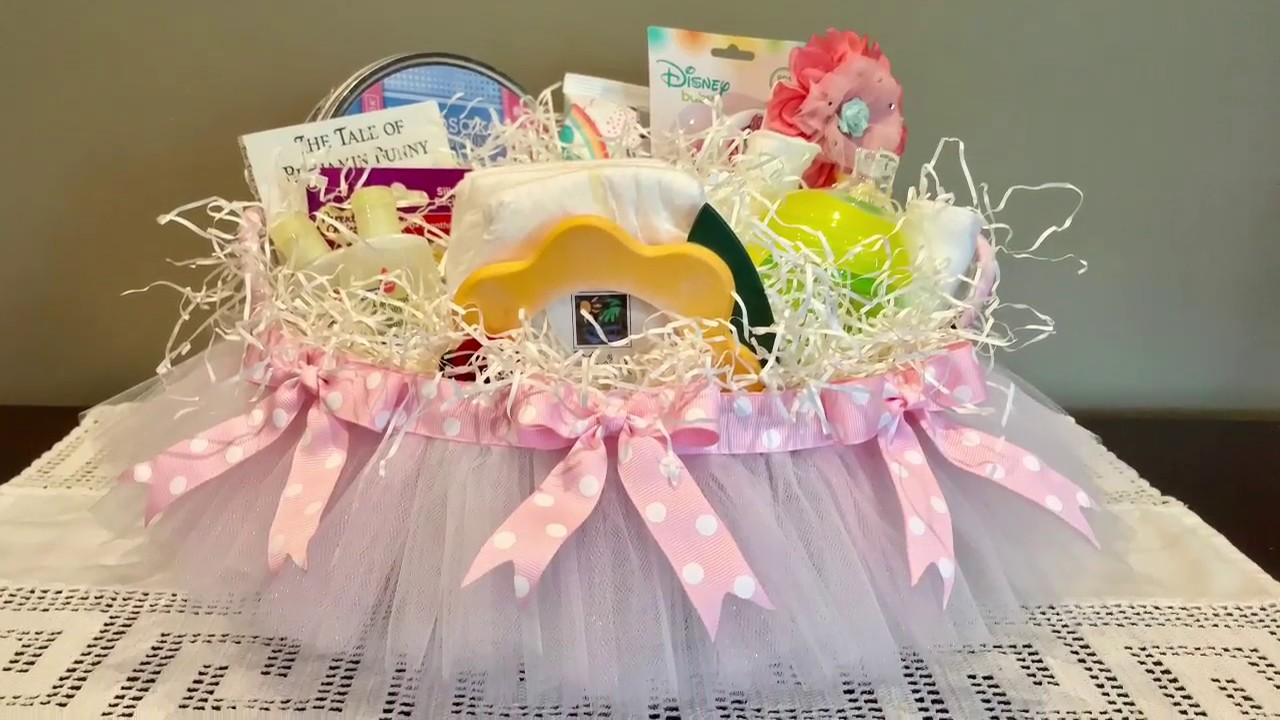 How To Make A Diy Baby Shower Gift Basket You