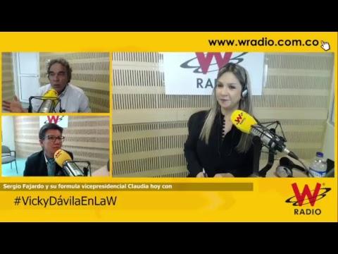 Sergio Fajardo y Claudia López en entrevista con Vicky Dávila