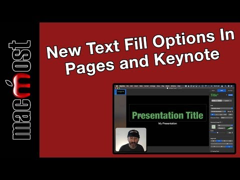 New Text Fill Options In Pages and Keynote (MacMost #1953)