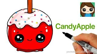 How to Draw a Candy Apple Easy