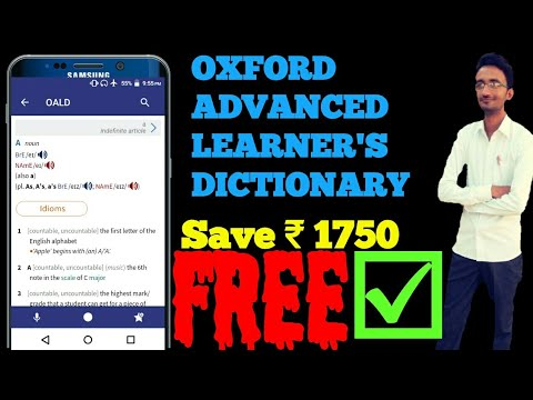 OXFORD ADVANCED LEARNER'S DICTIONARY Free For Android || OALD Free || OALD Apk