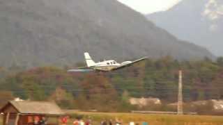 Low Pass Piper PA-34-220T Seneca III / S5-CBW / Letališče Lesce(LJBL)