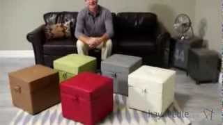 Tova Faux Leather Storage Ottoman - Product Review Video