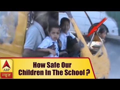 Khurja: Auto driver carries school kid in his lap while driving, administration issues not